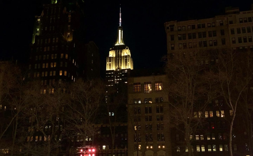 Picture of the Empire State building in New York