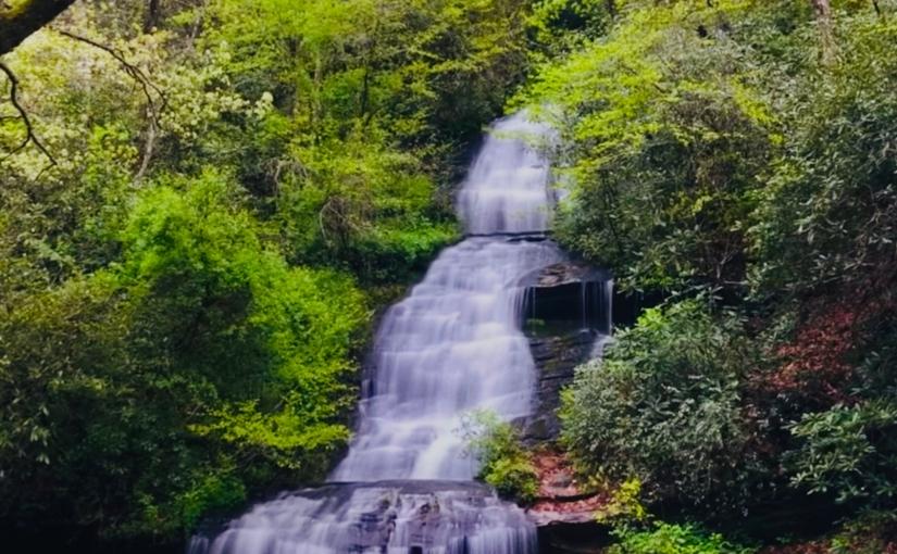 The waterfall..